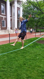Slacklining on campus a growing trend