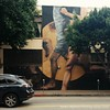 They'll never outrun the cars. #12blaxx losangeles #mural #pico