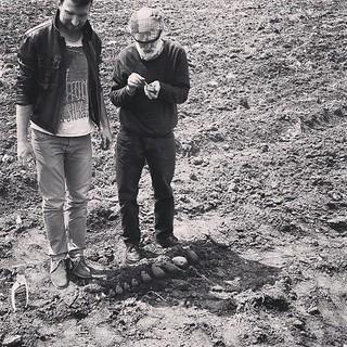 Endri Dani e Pippo Moresca durante le riprese di Poiein