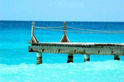 Dock in Caribbean Sea