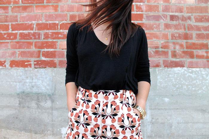 Zara printed shorts outfit