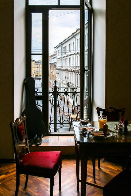 Breakfast in the hotel, Saint Petersburg, Russia サンクトペテルブルク、ホテルでの朝食