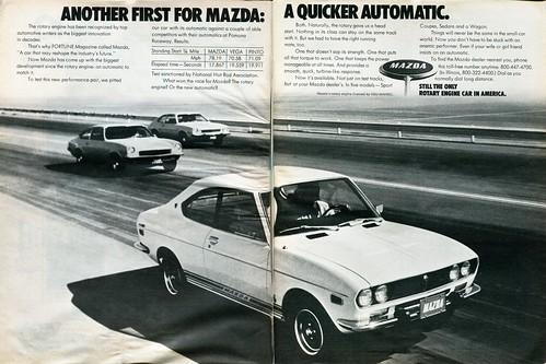 1973 Mazda Advertisement Motor Trend January 1973