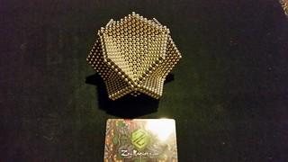 Hex  ball 4 hexagons 217 per hexagon.  8 hexagon 1736 magnets