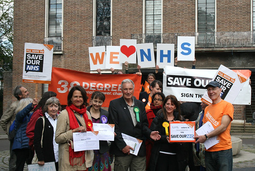 Hornsey and Wood Green Save our NHS petition hand-in