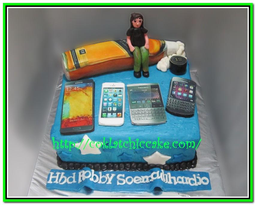 Cake Johnnie Walker, Samsung Note 3 dan Porsche BB