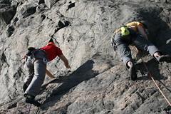 climbing at Finnsvedsberget