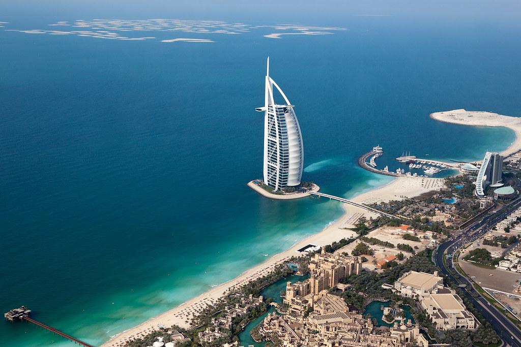 Dubai - Burj Al Arab - Helicopter View