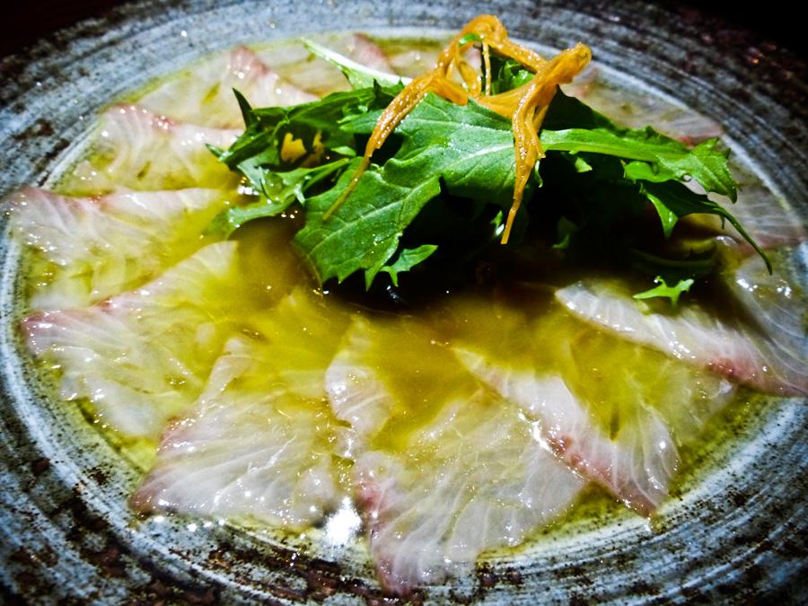 kampachi-sashimi-no-salada,-Roka,-Mayfair