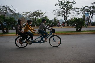 A bicycle built for ...three?