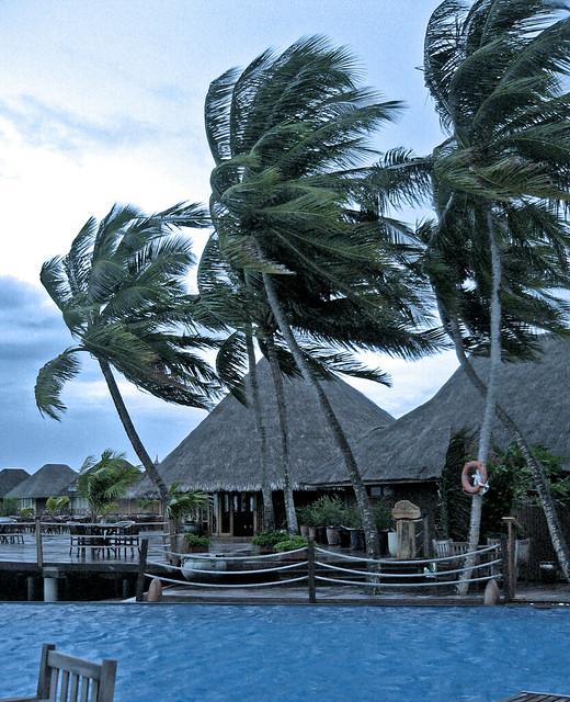 Maldives Vilureef water villa storm