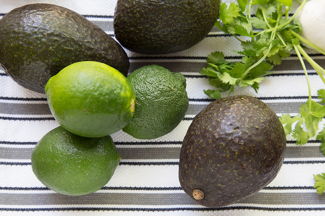 Haas avocados and limes