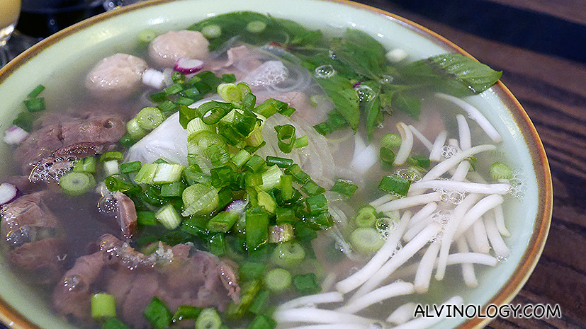 Beef combination noodle soup namdinh style - S$9.90, light and refreshing, I love this dish