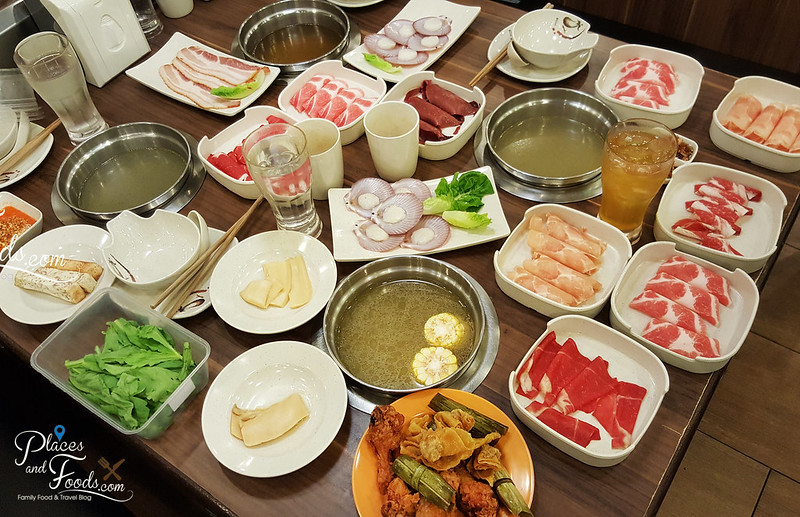 shasa shabu steamboat buffet pandah indah all the food