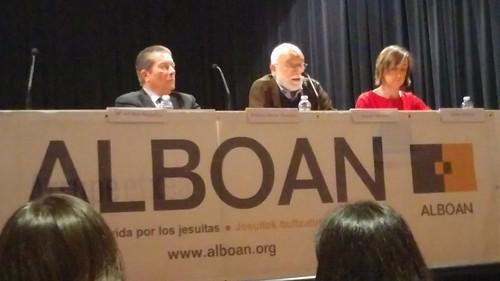 Federico Mayor Zaragoza y Arcadi Oliveres con #Alboan