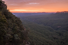 Dawn from shoulder of Mt Solitary