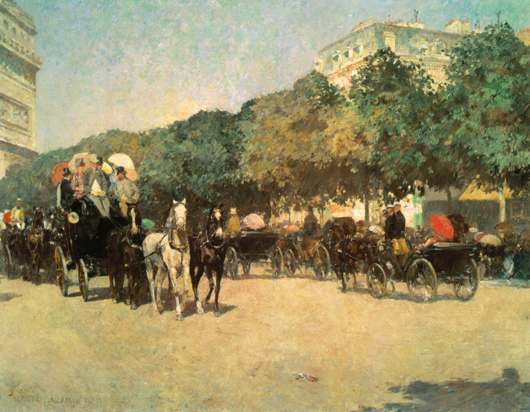 Grand Prix Day by Frederick Childe Hassam - 1887