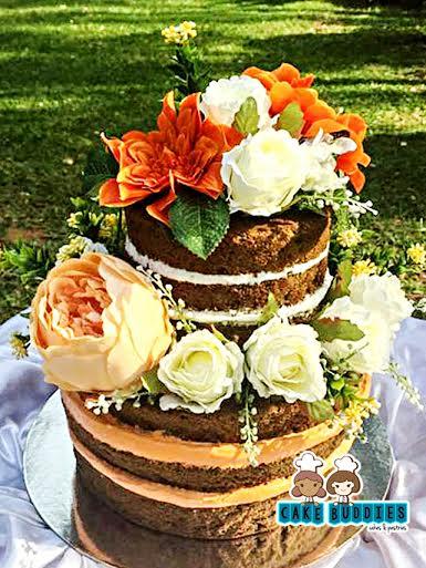 Beautiful Naked Cake by Cake Buddies