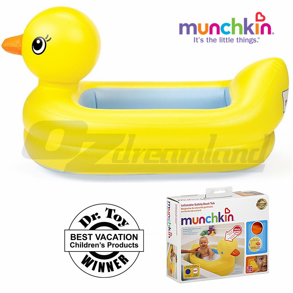 munchkin inflatable portable travel baby bath tub with safety dics sound 6 24 m. Black Bedroom Furniture Sets. Home Design Ideas