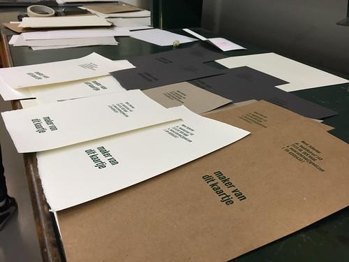 Typesetting workshop at the KABK @KABKnews #type #craft #craftsman #typgraphy #oldschool #vintage