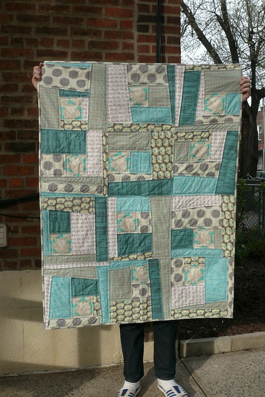 wonky log cabin quilt | Ginger Makes