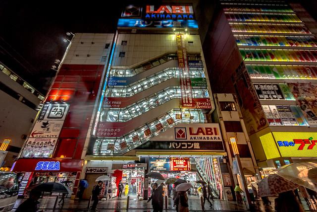 Akihabara District at Night