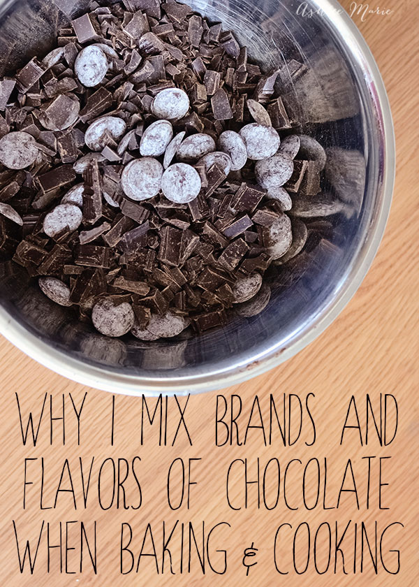 mixing chocolate flavors and brands