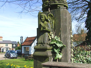 gatepost angel by Munro Cautley