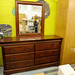 Dark wood dresser with mirror