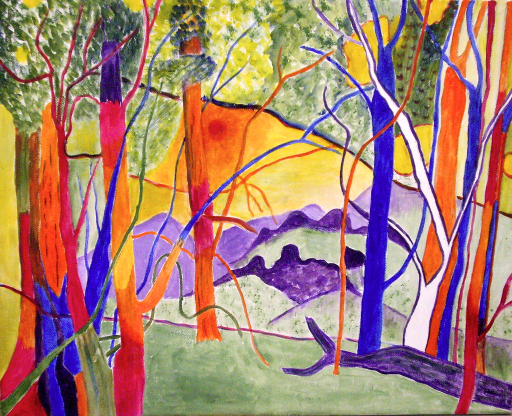 Australian landscape in Fauve style