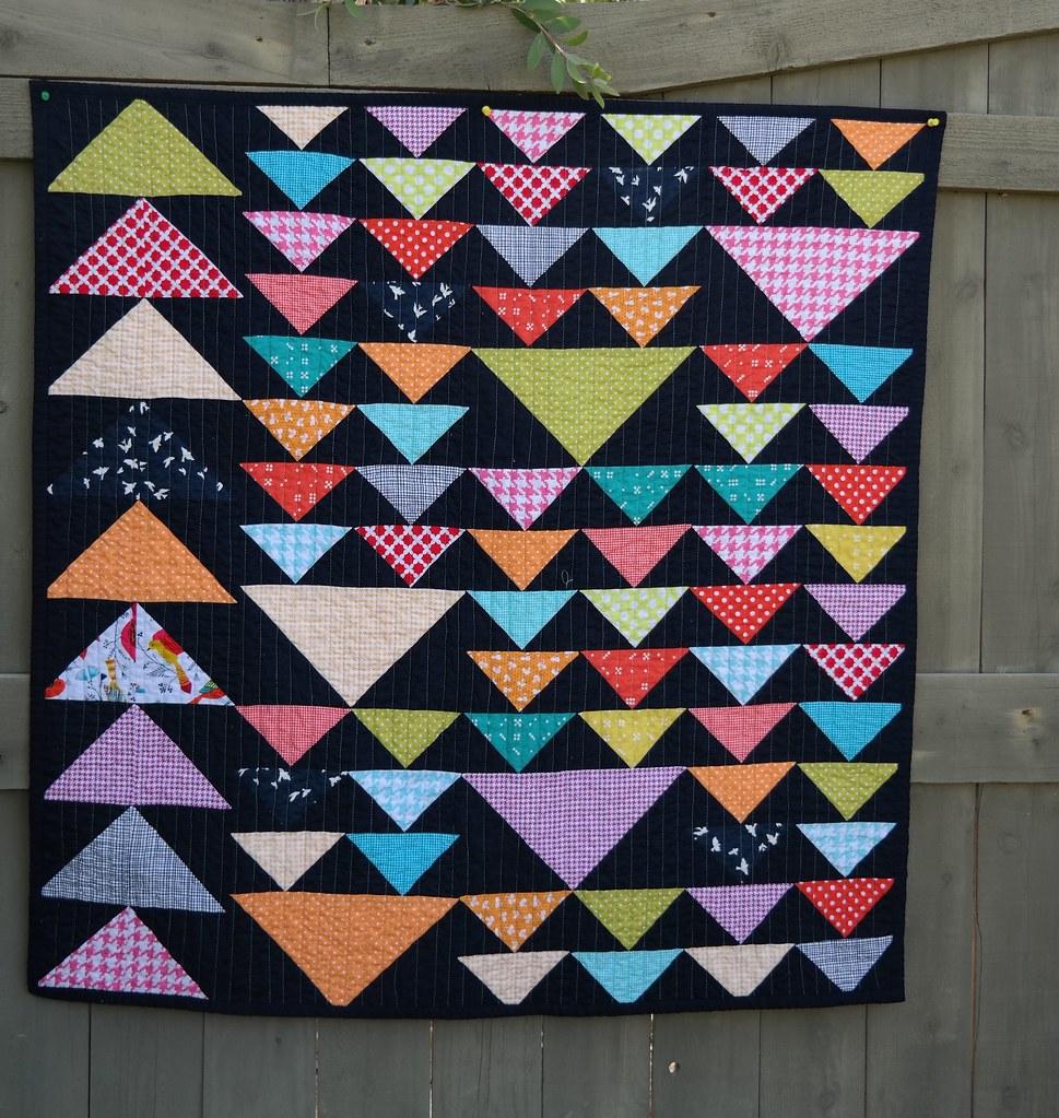 Michael miller challenge baby quilt