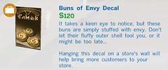Buns of Envy Decal