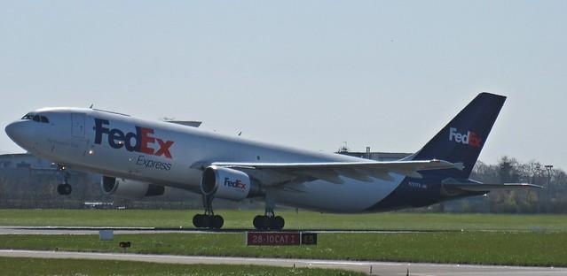 N727FD FedEx Express Cargo Airbus A300-600 18-04-2015 001