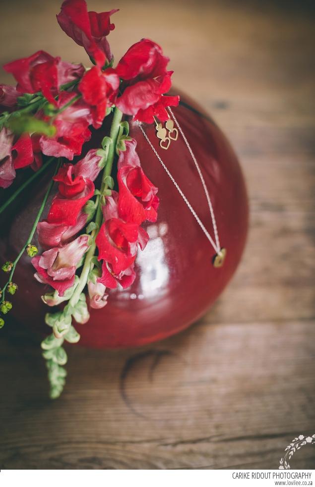 Marsala wedding flowers and vase