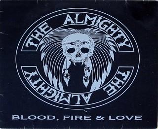 "THE ALMIGHTY BLOOD, FIRE & LOVE 12"" LP VINYL"