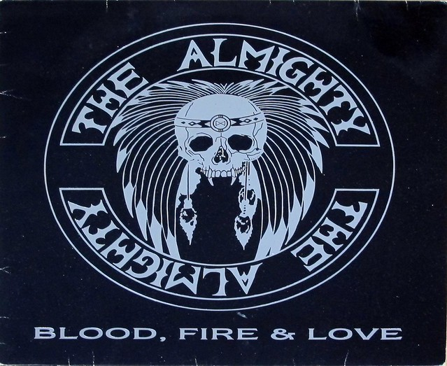 "THE ALMIGHTY BLOOD, FIRE & LOVE 12"" LP VINYL"