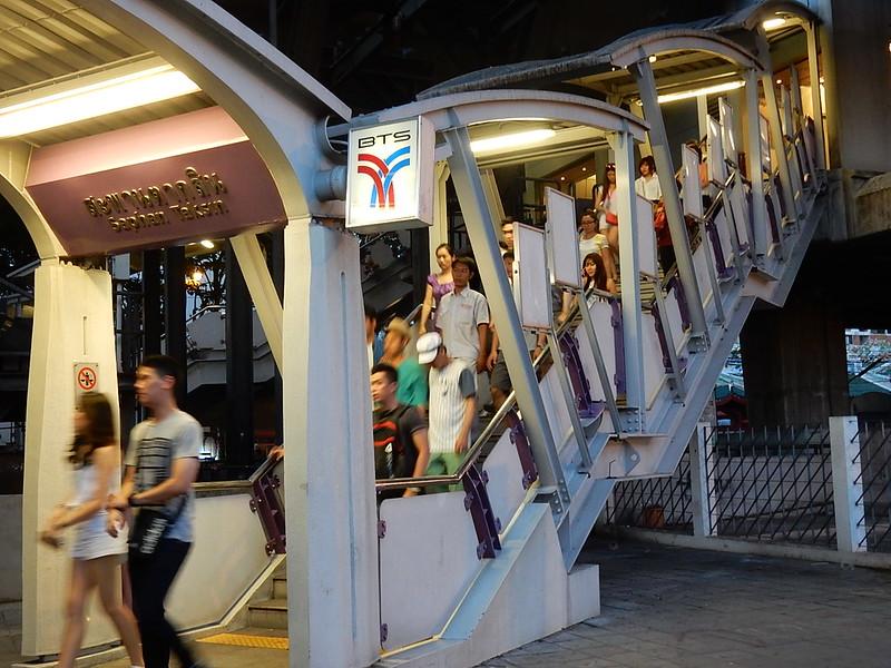 Exiting the BTS (Skytrain)
