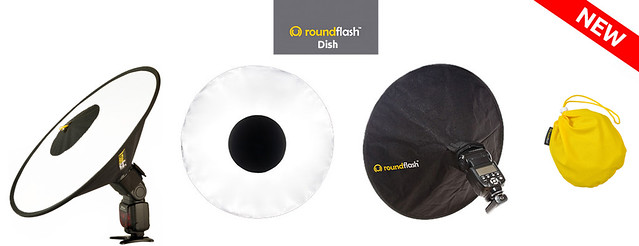 RoundFlash Dish - the Collapsible Beauty Dish