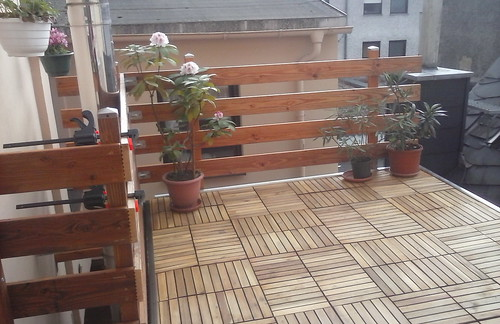 Terrasse fast fertig