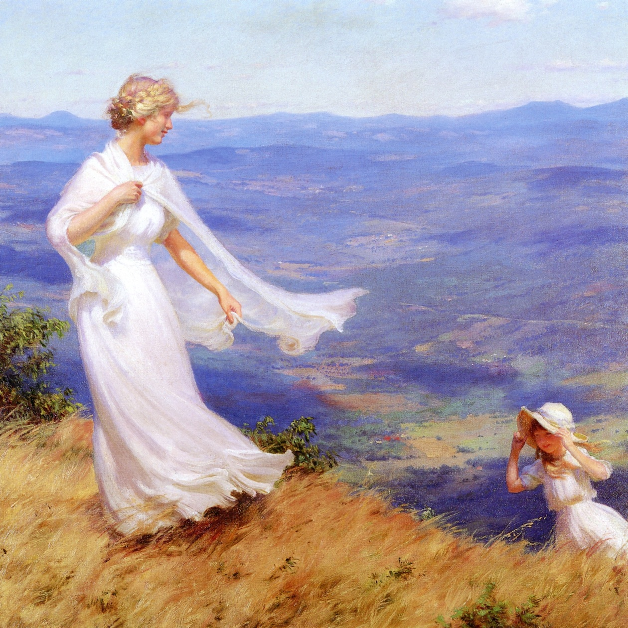 The West Wind by Charles Courtney Curran - 1918