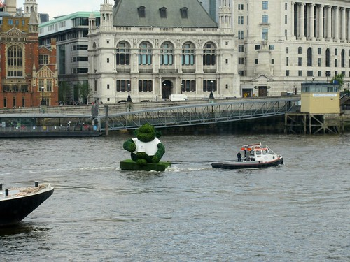 Big Floating Topiary on the Thames