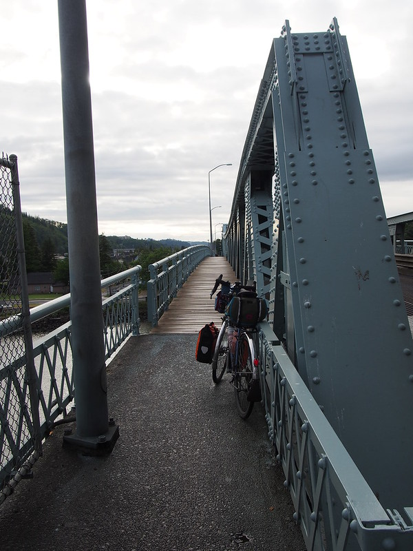 Hoquiam River High Bridge: Wooden Sidewalks: A bit slicker than I would've preferred