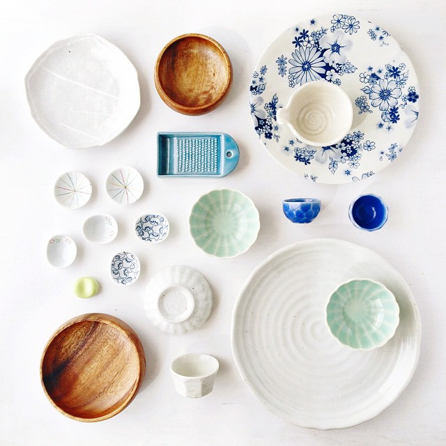 I know you've been waiting for it... The first pic (of three) of the props I picked up in Japan - we'll call this the mostly ceramic instalment. I was so well behaved.  More info on my In My Kitchen post tomorrow ????
