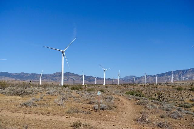 PCT through the wind farm, m535