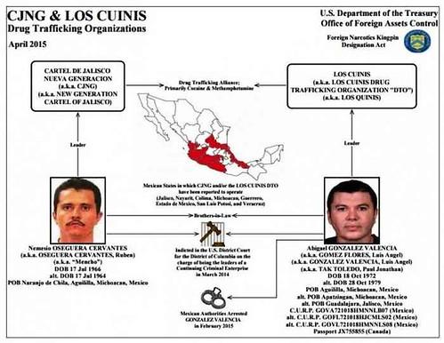 Un nuevo cártel, Los Cuinis, llegó en silencio a la cima del poder en México: DEA