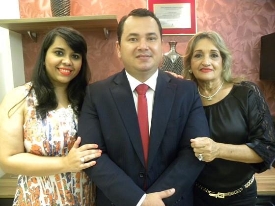 Edmmar e Priscila Machado, com Moema Machado