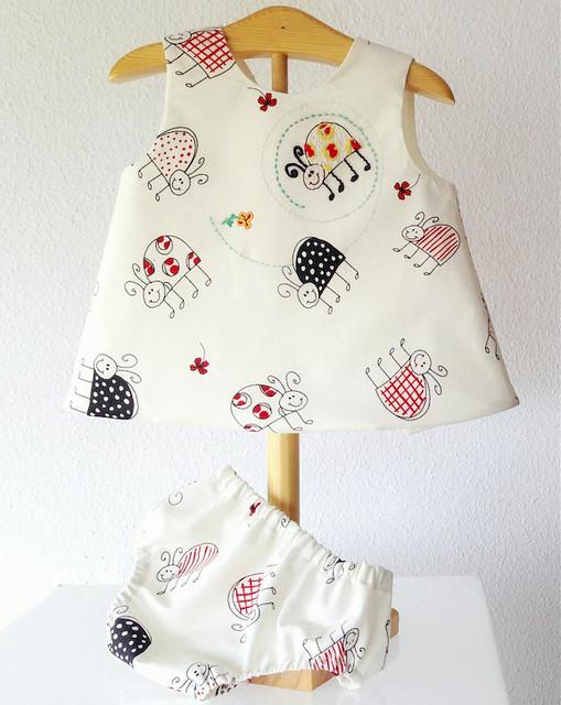 vestido mariquitas bebes