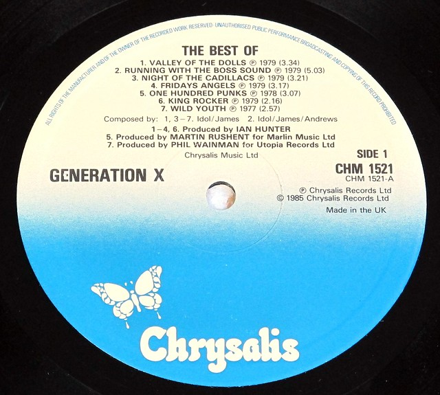 "GENERATION X THE BEST OF GENERATION X 12"" LP VINYL"