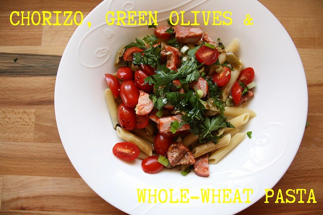 Salad Love's Chorizo, Green Olives & Whole-Wheat Pasta