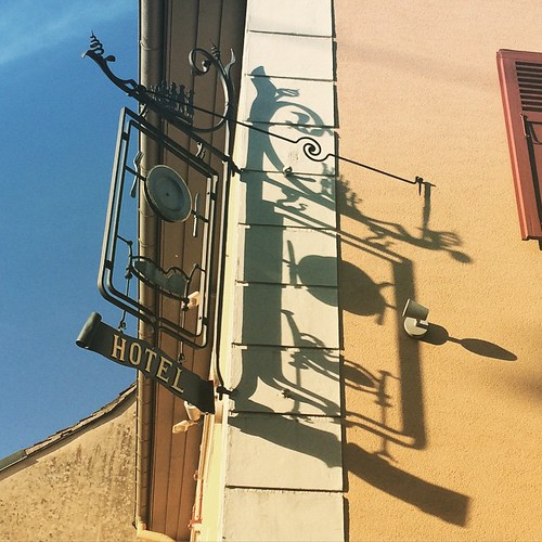 Hotel sign and shadow #latergram #Alsace